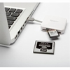 Lecteur Cartes mémoire SD et Micro SD USB 2.0 blanc